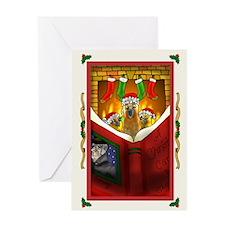 Christmas Bird4 Card Greeting Cards
