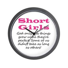 Short Girls Wall Clock