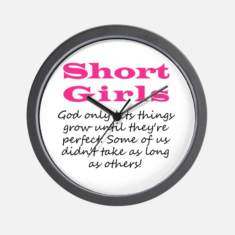 Short Girls Wall Clock