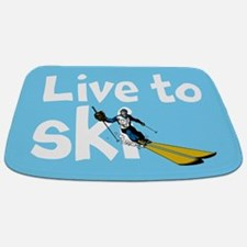 Live To Ski Bathmat