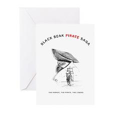 Black Beak Illustrations Greeting Cards (Pk of 10)
