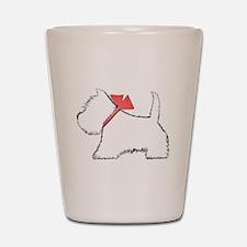 Cute Westie Dog Art Shot Glass