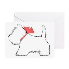 Cute Westie Dog Art Greeting Card