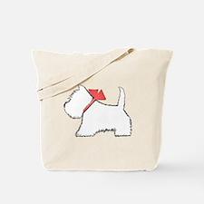 Cute Westie Dog Art Tote Bag