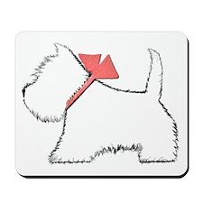 Cute Westie Dog Art Mousepad