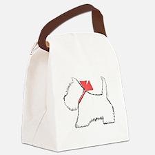 Cute Westie Dog Art Canvas Lunch Bag