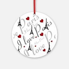 Trendy I LOVE PARIS Ornament (Round)