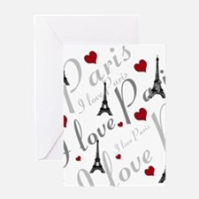 Trendy I LOVE PARIS Greeting Card