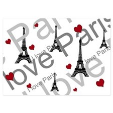 Trendy I LOVE PARIS 5x7 Flat Cards