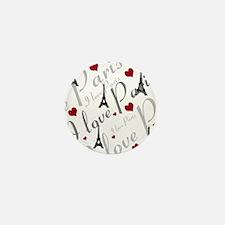 Trendy I LOVE PARIS Mini Button