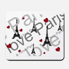 Trendy I LOVE PARIS Mousepad