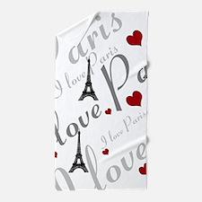Trendy I LOVE PARIS Beach Towel