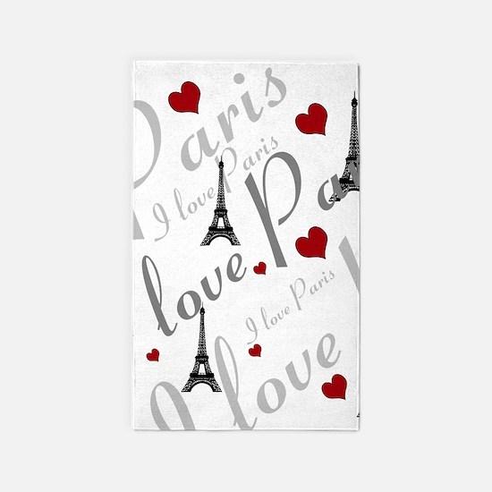 Trendy I LOVE PARIS 3'x5' Area Rug