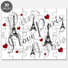 Trendy I LOVE PARIS Puzzle