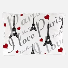 Trendy I LOVE PARIS Pillow Case