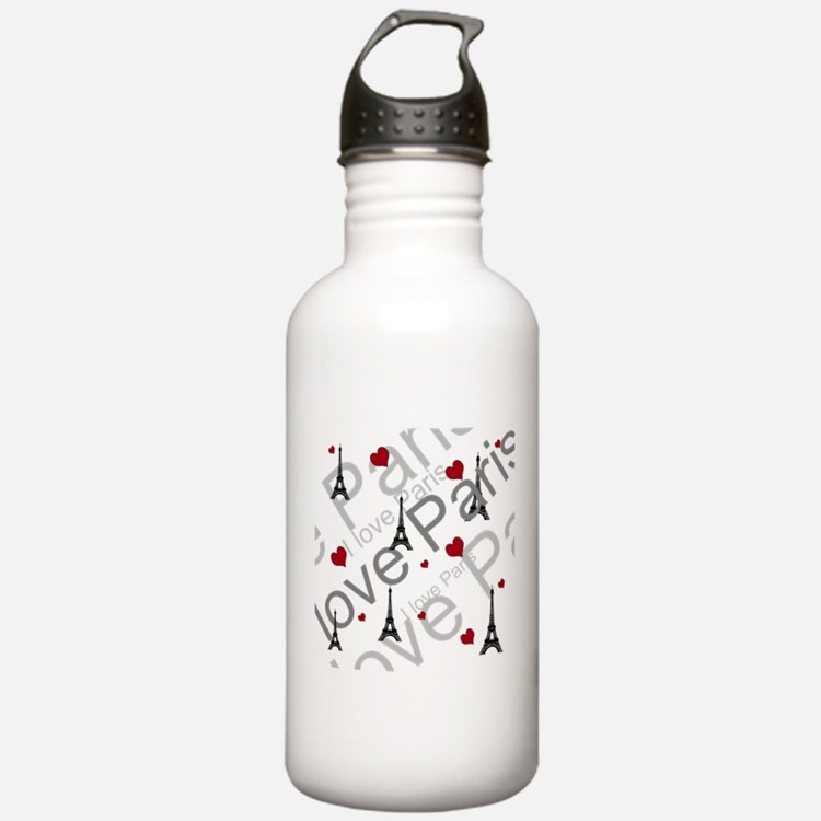 Trendy I LOVE PARIS Water Bottle