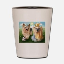Yorkie Queen and Player Shot Glass