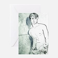 Shadow On The Wall Card Greeting Cards