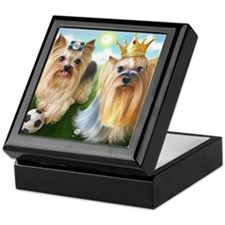 Yorkie Queen and Player Keepsake Box