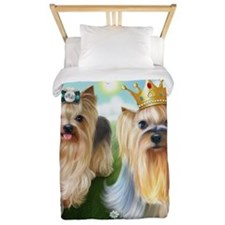 Yorkie Queen and Player Twin Duvet