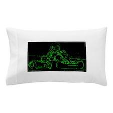 Kart Racer in Green Pillow Case