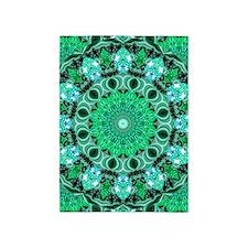 Emerald Crystals 5'x7'Area Rug