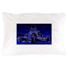 Kart Racer in Blue Pillow Case