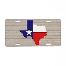 Texas Flag v4 Aluminum License Plate