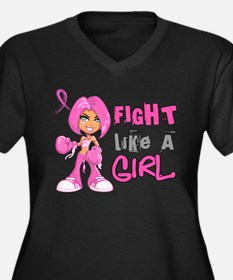 Fight Like a Girl 42.8 Breast Cancer Plus Size T-S