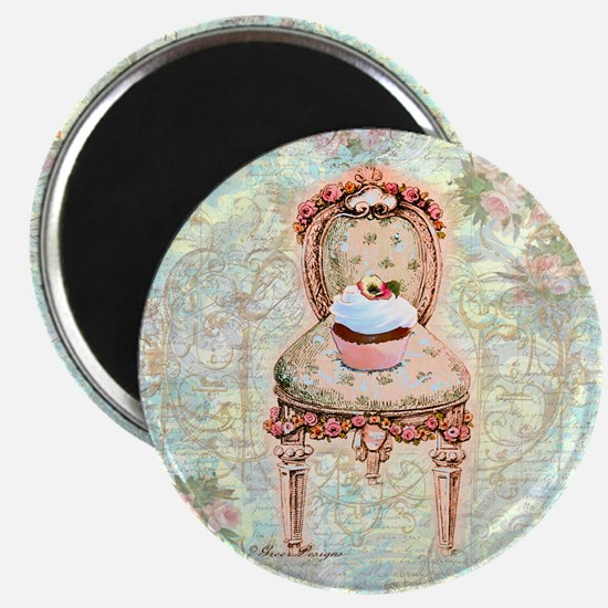 French Cupcake Victorian Magnet