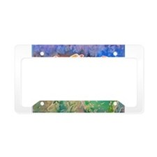 Colorful cactus, southwest art License Plate Holde