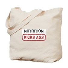 NUTRITION kicks ass Tote Bag