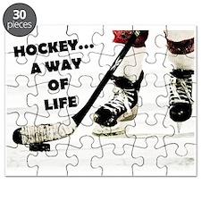 Hockey A Way Of Life Puzzle