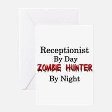 Receptionist/Zombie Hunter Greeting Card