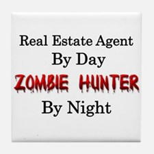 Real Estate Agent/Zombie Hunter Tile Coaster