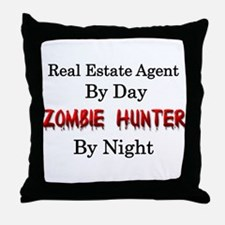 Real Estate Agent/Zombie Hunter Throw Pillow