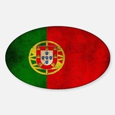 Portugal flag Sticker (Oval)