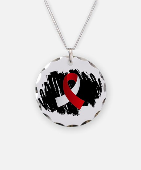 Scribble Ribbon Aplastic Ane Necklace