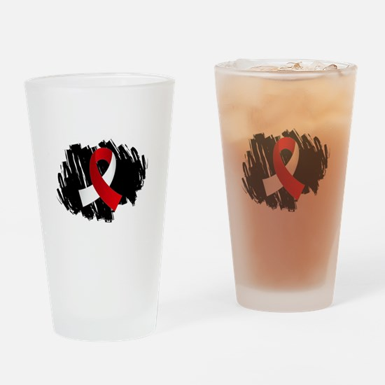 Scribble Ribbon Aplastic Anemia Drinking Glass