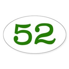 GREEN #52 Decal