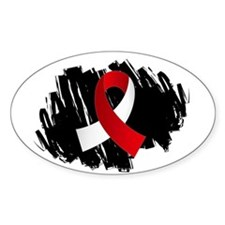 Scribble Ribbon Aplastic Anemia Decal