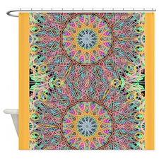 Tangerine Mandala Shower Curtain