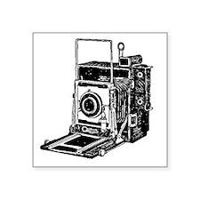 "Vintage Camera Square Sticker 3"" x 3"""