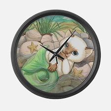 Sweet Merkitten Large Wall Clock