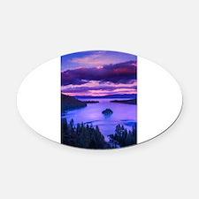 EMERALD BAY lake tahoe Oval Car Magnet
