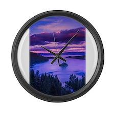 EMERALD BAY lake tahoe Large Wall Clock