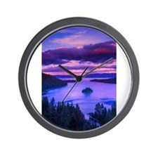 EMERALD BAY lake tahoe Wall Clock