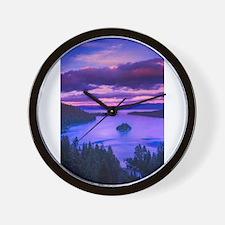 EMERALD BAY lake tahoe Wall Clock