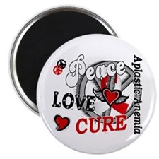 """Peace Love Cure 2 Aplastic 2.25"""" Magnet (10 pack)"""