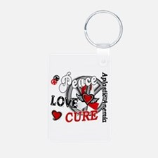 Peace Love Cure 2 Aplastic Keychains